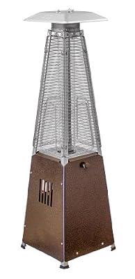 AZ Patio Heaters HLDS032-GTTHG Portable Table Top Glass Tube Patio Heater, Bronze