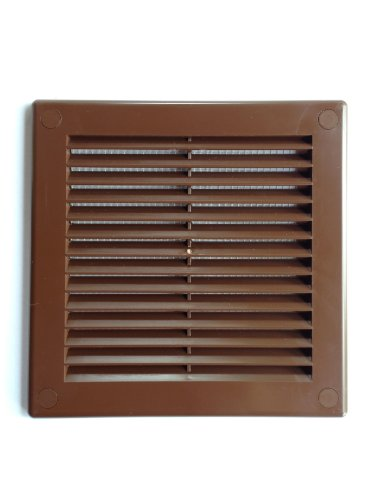 Air Vent Grille Cover 150 x 150mm (6 x 6inch) BROWN Ventilation Cover High Quality ABS Plastic