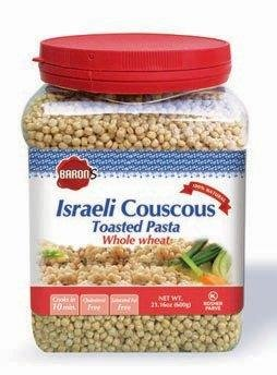 Baron's Kosher Whole Wheat Israeli Couscous Toasted Pasta 21.16-ounce Jars (Pack of 4)
