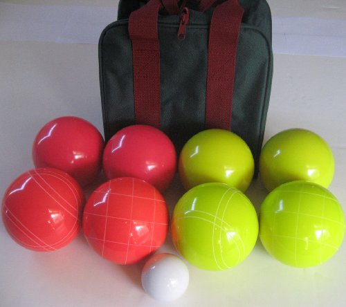 Premium Quality EPCO Tournament Bocce Set, Yellow and Red Bocce Balls - 110mm...