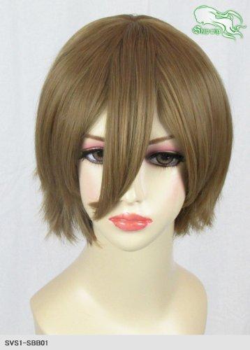 スキップウィッグ 魅せる シャープ 小顔に特化したコスプレアレンジウィッグ マニッシュショート カプチーノ