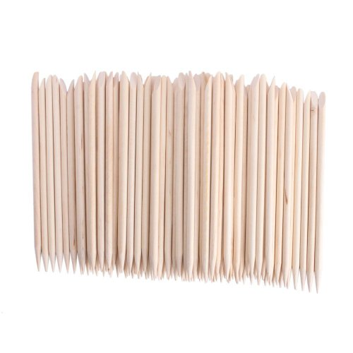 JOVANA 10000 pcs Nail Art Orange Wood Sticks Cuticle Pusher Remover Manicure Pedicure Tool 120mm
