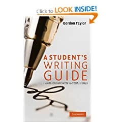 Image: Cover of A Student's Writing Guide: How to Plan and Write Successful Essays