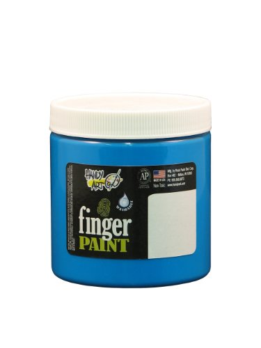Handy Art by Rock Paint 246-156 Washable Finger Paint, 1, Fluorescent Blue, 8-Ounce - 1