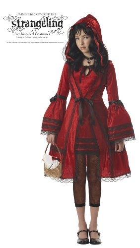 California Costumes Red Riding Hood Tween Costume,Red/Black,X-Large
