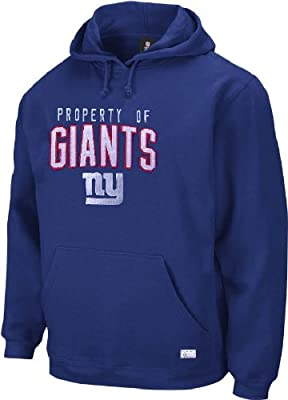 Reebok New York Giants NFL Embroidered Twill Hooded Fleece Sweatshirt
