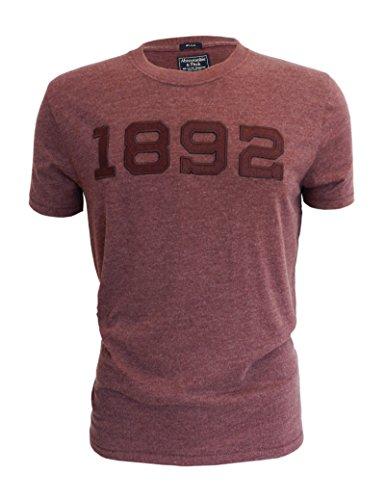 abercrombie-fitch-t-shirt-a-manches-longues-homme-rouge-bordeaux-rouge-x-small