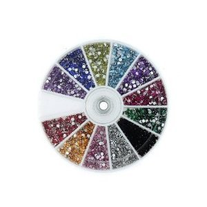 MASH Rhinestones 2400 Piece 12 Color Nail Art