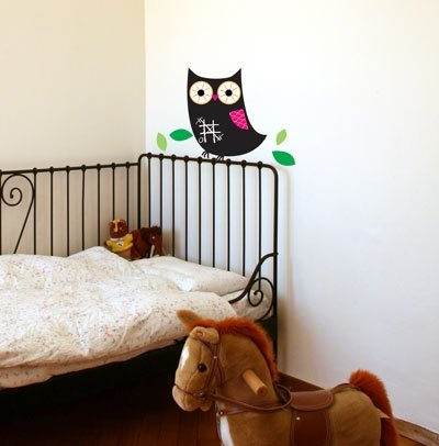 Chalkboard Owl Wall Decor Stickers