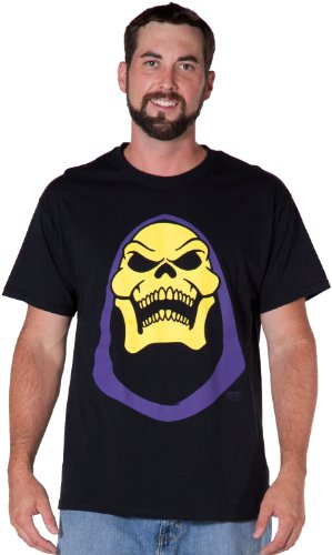Skeletor Face Bold He-Man Official Licensed Authentic Adult T-Shirt - S to XXXXXL