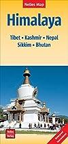 Himalaya nel.map Tibet-Kashmir-Nepal-Bhutan