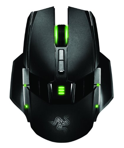 Razer Ouroboros Elite Ambidextrous Wired or Wireless Gaming Mouse - 8200 DPI 4G Laser Sensor