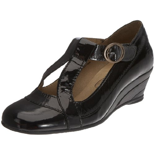 Fly London Women's Boff Special Occasion Heel Leather Black P141748006 3 UK