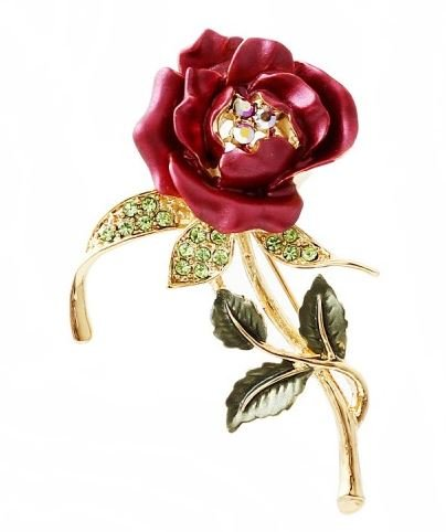 Elegant brooch rose brooch