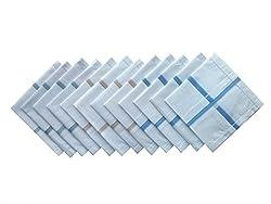 Krayonz White Mens Handkerchief (Pack of 12) 2300