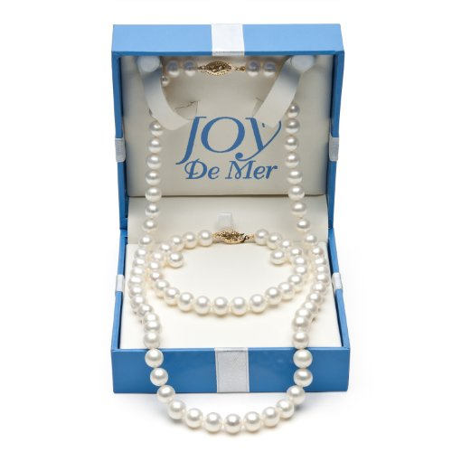 7-8mm Cultured White Freshwater Pearl Necklace,