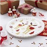 Rocking Rudolf Rudolph - Christmas Xmas Party Paper Plates
