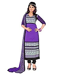 Purple Chanderi Salwar Kameez
