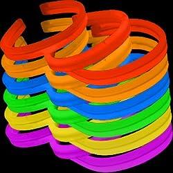 8 Twister Lumistick Glow Light Stick Assorted Bracelets (200 Bracelets)