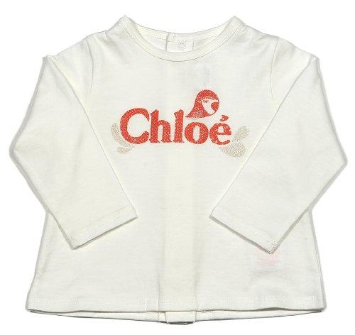Chloe Chloe Print Tee In Off White-9Mo