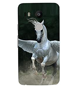 ColourCraft Flying Horse Design Back Case Cover for LG GOOGLE NEXUS 5X