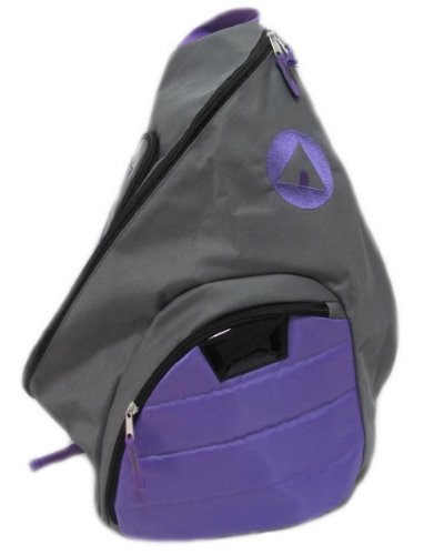 Airwalk Girls Sling Backpack Gray And Purple front-313478