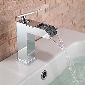 Tom contemporanea cascata lavandino rubinetto del bagno - Rubinetto bagno cascata ...
