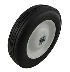 "Marathon Industries 00431 8x1.75""-Inch Semi-Pneumatic Tire With Centered Hub and Ribbed Tread at Sears.com"