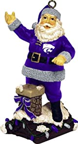 Rooftop Santa Ornament-Kansas State