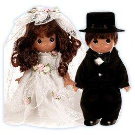 "The Doll Maker Wedding Bells Groom Baby Doll, Brunette, 9"" front-531003"