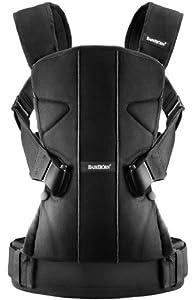 BabyBjörn One - Mochila portabebé de mezcla de algodón, color negro