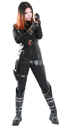 Women's New America Black Widow Cosplay Costume for Movie Christmas