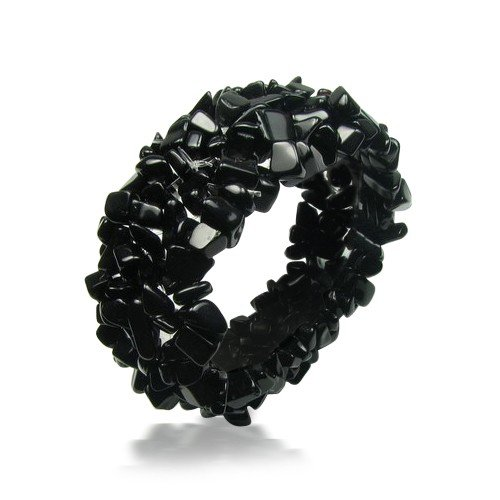 Bling Halloween Jewelry Black Onyx Gemstone Chips