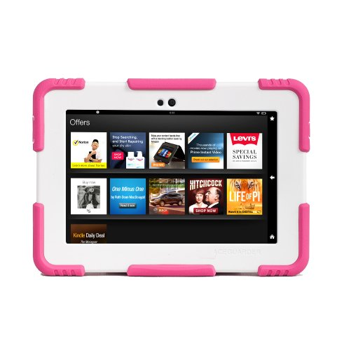ACEGUARDER Sweet Girl Pink Shockproof Case For Kindle Fire