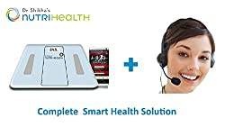 Dr Shikha's NutriHealth Smart BFA Scale - Bluetooth Enabled BFA Scale (white) with 1 month personalised nutrition plan