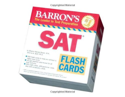 Barron's SAT Flash Cards (Barron's: the Leader in Test Preparation)