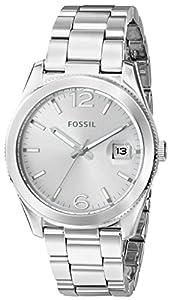 Fossil Women's ES3585 Perfect Boyfriend Three Hand Stainless Steel Watch - Silver-Tone