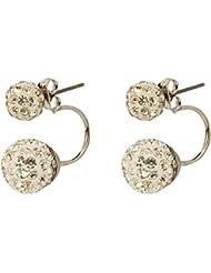 Gorigama Trendy Fashionable White Crystal Studded Earrings For Girls Fancy Party Wear Trendy Earrings
