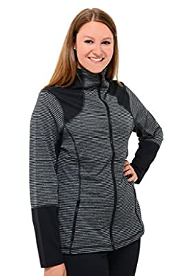 90 Degree by Reflex PLUS SIZE ACTIVEWEAR Performance Yoga Apparel: Full Zip Jacket
