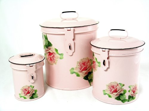 Retro Vintage Canister Set ~ Kitchen Storage Canisters E8 ...