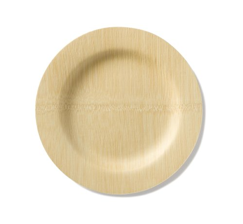 Bambu 11-Inch All Occasion Veneerware Plates, Package of 8, Natural (Bamboo Dishes compare prices)