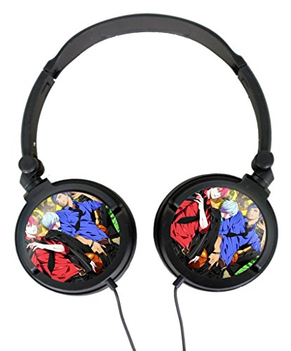Stereo Headset Wired Headphone Kurokos Basketball Manga 29 Free with Adjustable Headband Audio Connector Noise Isolation Custom adjustable headset (Manga Head compare prices)