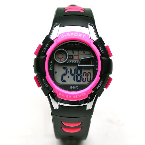 Sinceda Unisex Children Multi Function Luminous Analog Digital Electronic Lcd Watch Waterproof