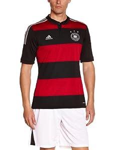 adidas Herren Heimtrikot Deutschland Away 2014/2015, Schwarz/Rot, XXXL, 937356506