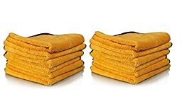 Real Clean - Professional Grade Premium Microfiber Towels Chemical and Water Safe Material, Gold 16\