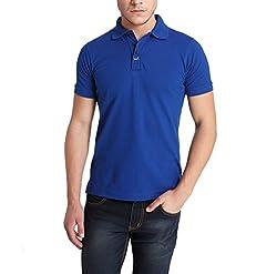 Erdferkel&Wobbegong Men's Combed Cotton Polo (MPT004--L, Blue, Large)
