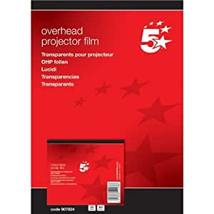 Amazon.com: 5 Star OHP Film Laser Colour Printer [Pack of 50]: Office