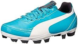 PUMA Evospeed 5.2 Firm Ground JR Soccer Shoe (Little Kid/Big Kid),Beetroot Purple/Bluebird/White,2 M US Little Kid