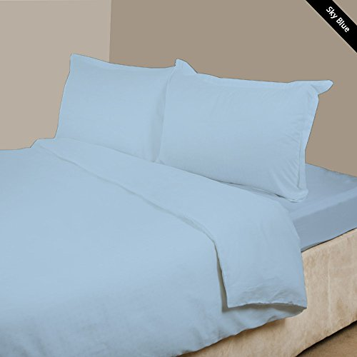 Fitted Sheet USA Size Light Blue Solid 1000-TC 100/% Cotton 15 Inch Deep Pocket