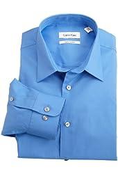 Calvin Klein Men's Regular-Fit Striped Button-Front Dress Shirt